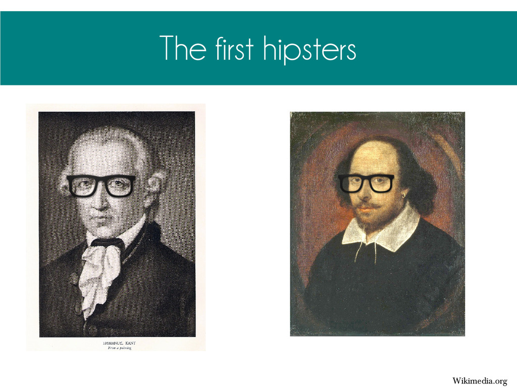 The first hipsters Wikimedia.org