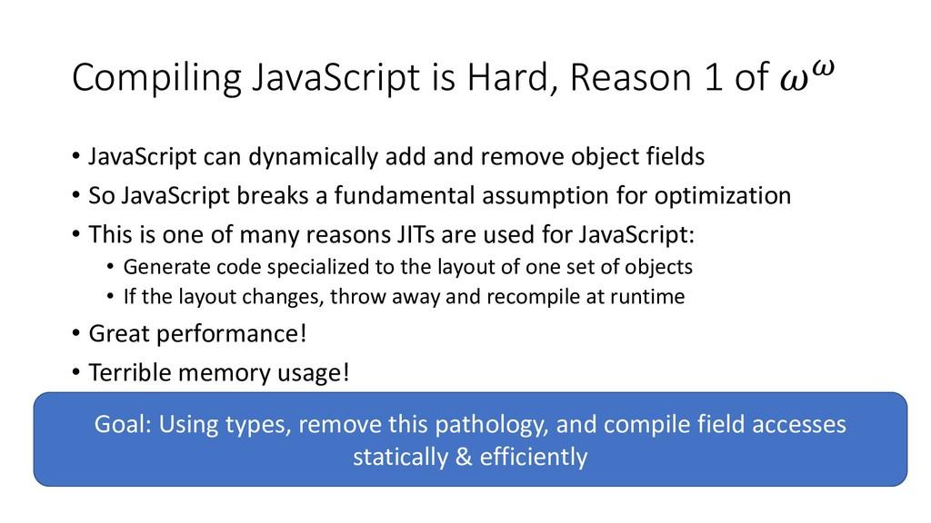 Compiling JavaScript is Hard, Reason 1 of  • Ja...