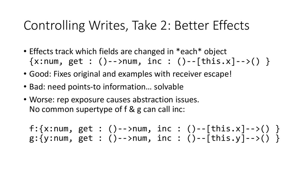 Controlling Writes, Take 2: Better Effects • Ef...