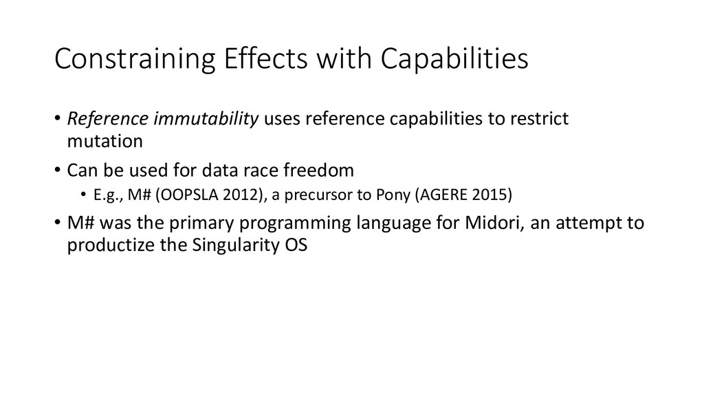Constraining Effects with Capabilities • Refere...