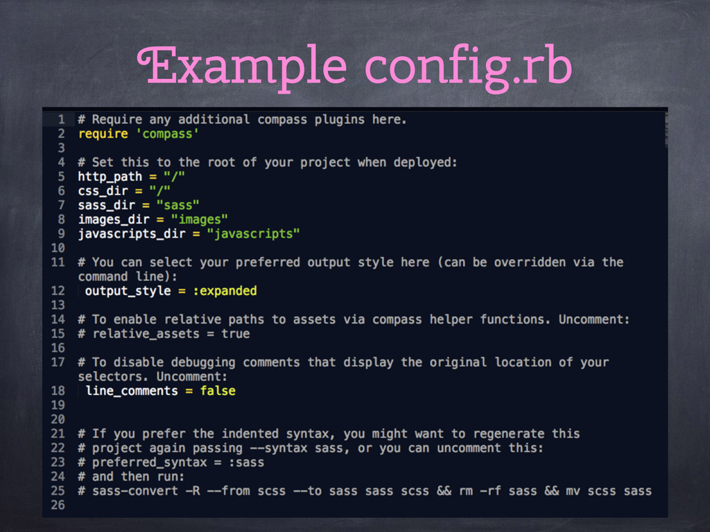 Example config.rb
