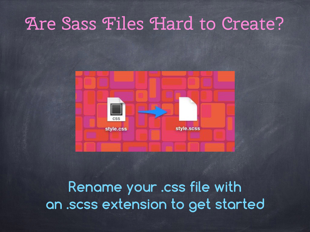 Rename your .css file with an .scss extension t...