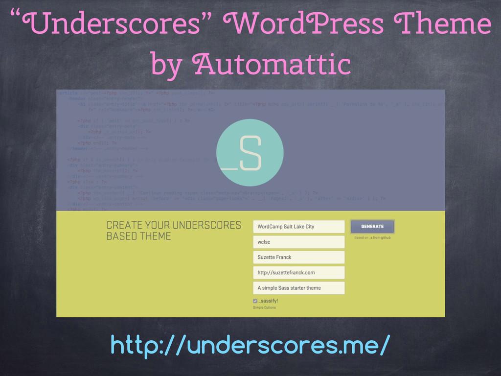 """Underscores"" WordPress Theme by Automattic htt..."