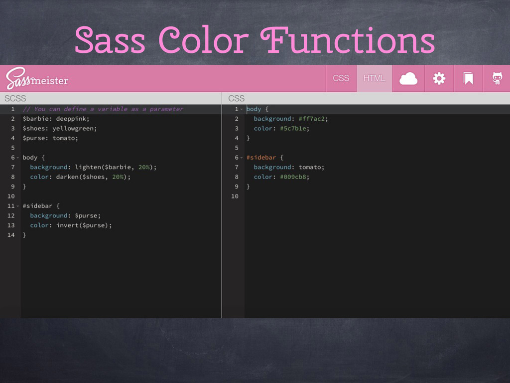 Sass Color Functions