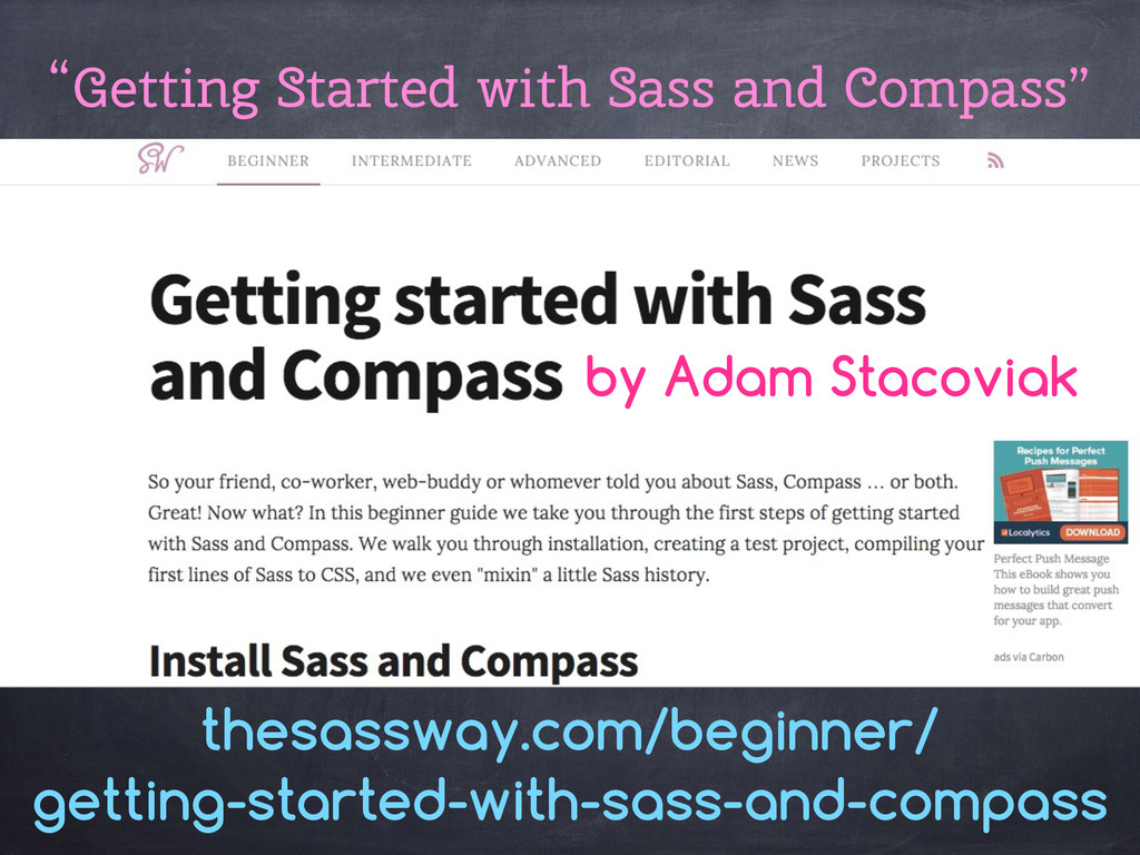 """""""Getting Started with Sass and Compass"""" thesass..."""