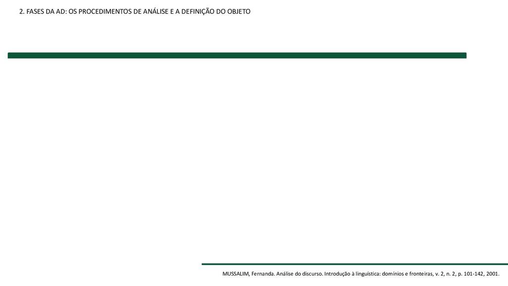 2. FASES DA AD: OS PROCEDIMENTOS DE ANÁLISE E A...