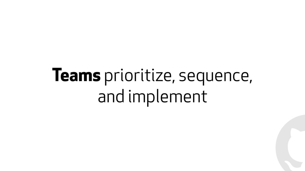 Teams prioritize, sequence, and implement
