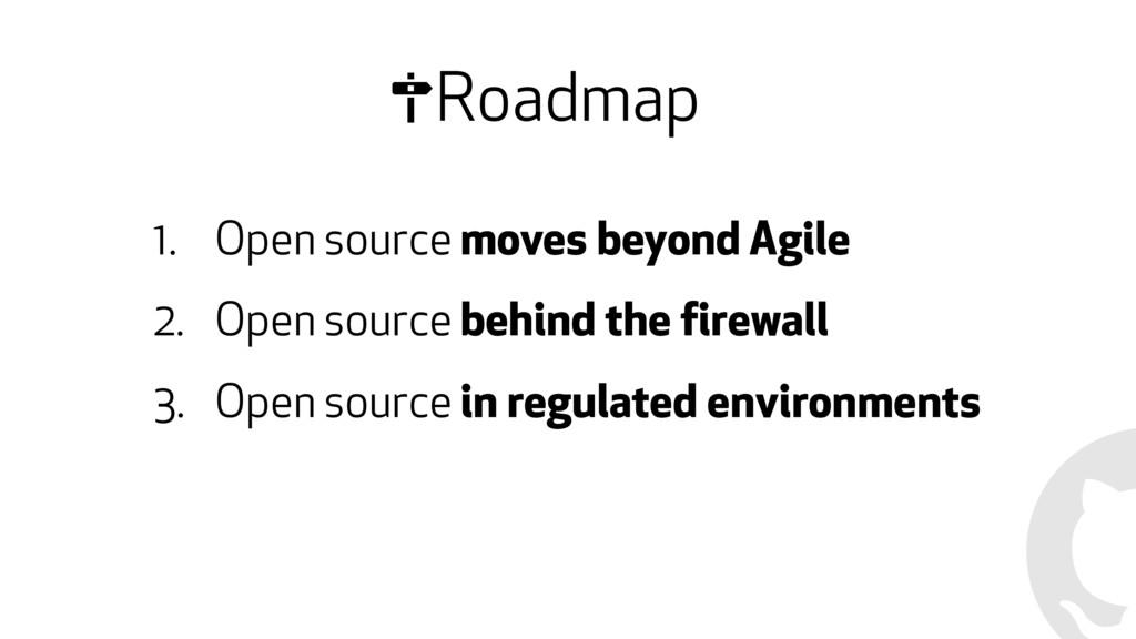 Roadmap 1. Open source moves beyond Agile 2. Op...