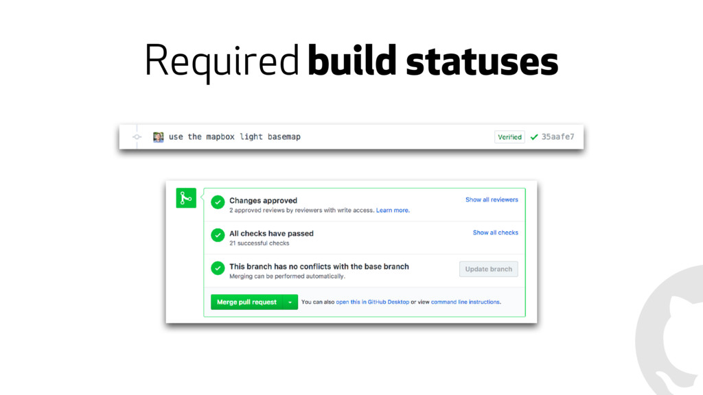 Required build statuses