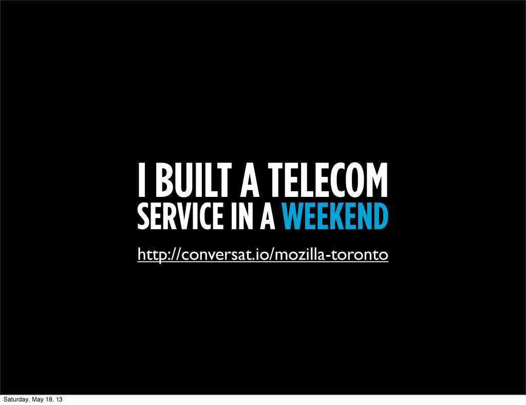 I BUILT A TELECOM SERVICE IN A WEEKEND http://c...
