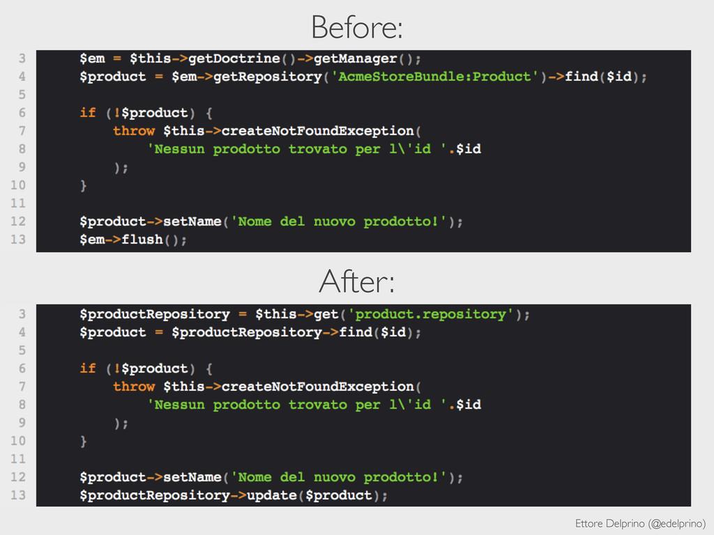 Ettore Delprino (@edelprino) Before: After: