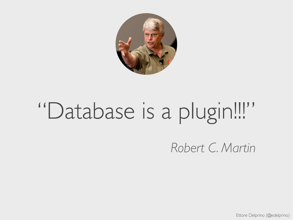 """Ettore Delprino (@edelprino) """"Database is a plu..."""
