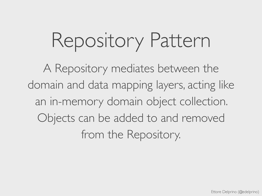Ettore Delprino (@edelprino) Repository Pattern...