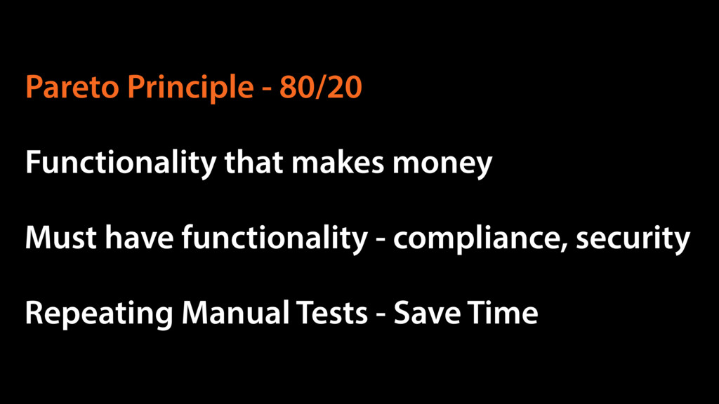 Functionality that makes money Must have functi...