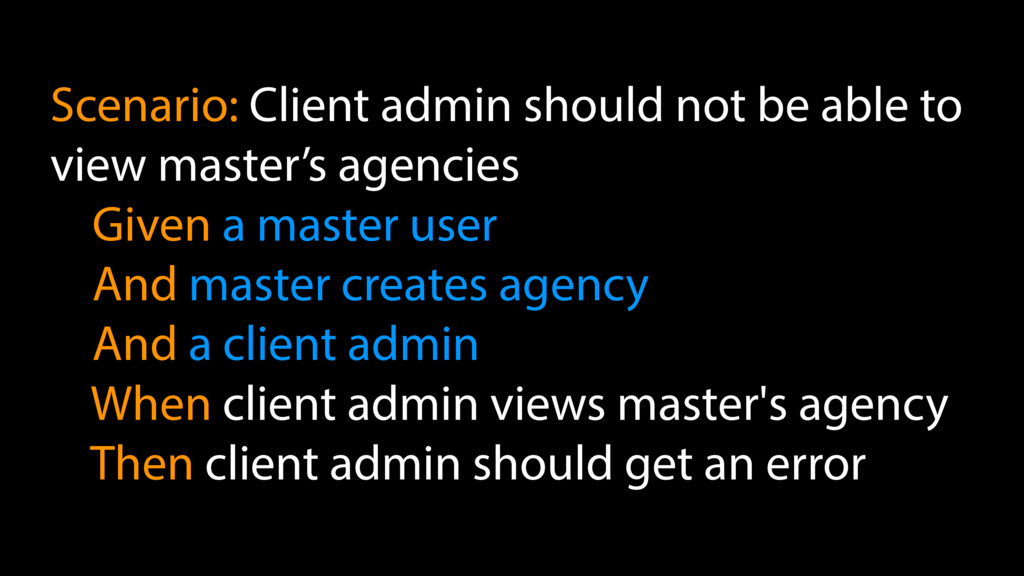 Scenario: Client admin should not be able to vi...
