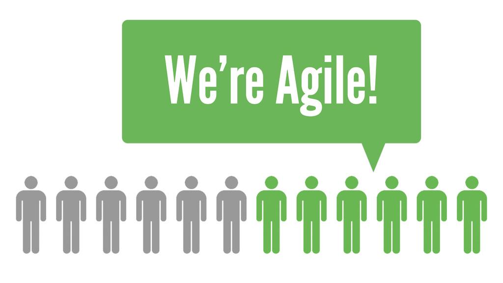 We're Agile!