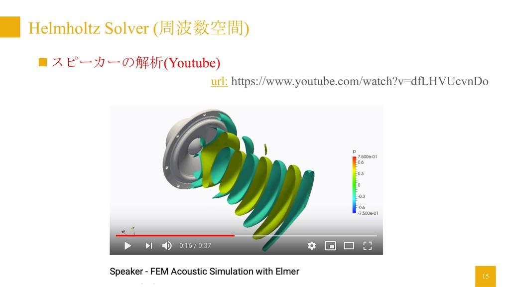 Helmholtz Solver (周波数空間) 15 url: https://www.yo...
