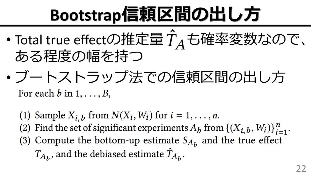 """Bootstrap • Total true effect"""" ..."""