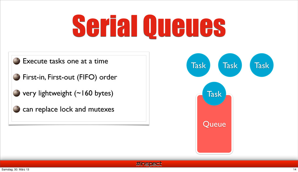 #inspect Queue Task Task Task Task Execute task...
