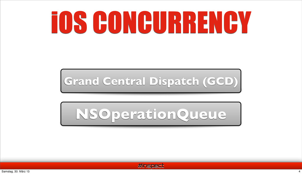 #inspect iOS CONCURRENCY NSOperationQueue Grand...