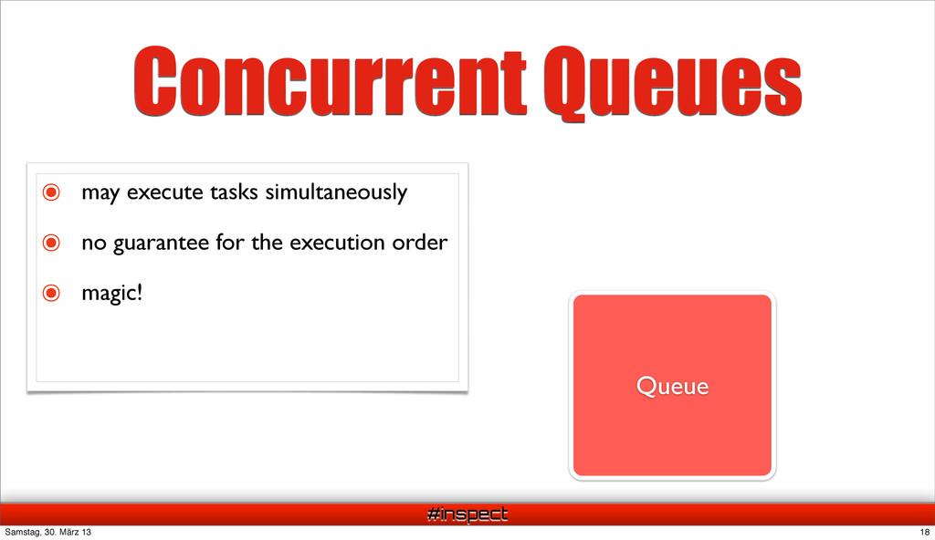 #inspect Queue Concurrent Queues Task Task Task...