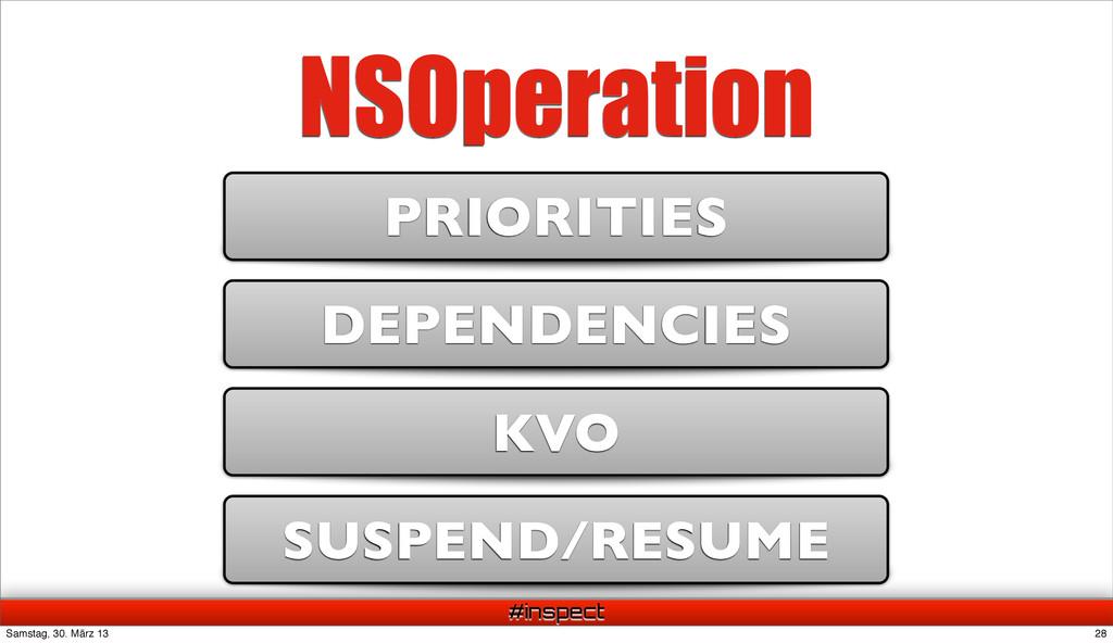 #inspect NSOperation DEPENDENCIES KVO PRIORITIE...