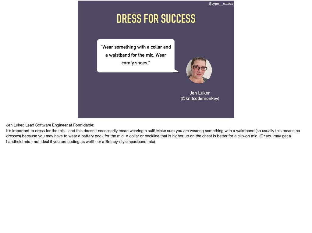 @type__error DRESS FOR SUCCESS Jen Luker (@knit...