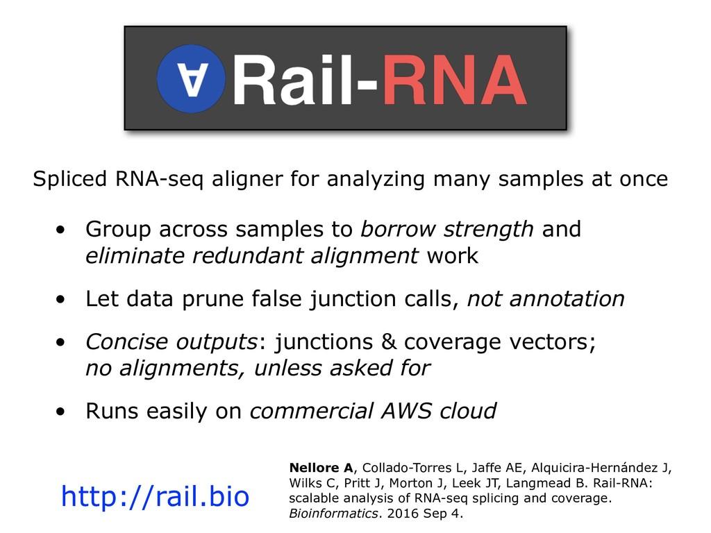 Spliced RNA-seq aligner for analyzing many samp...