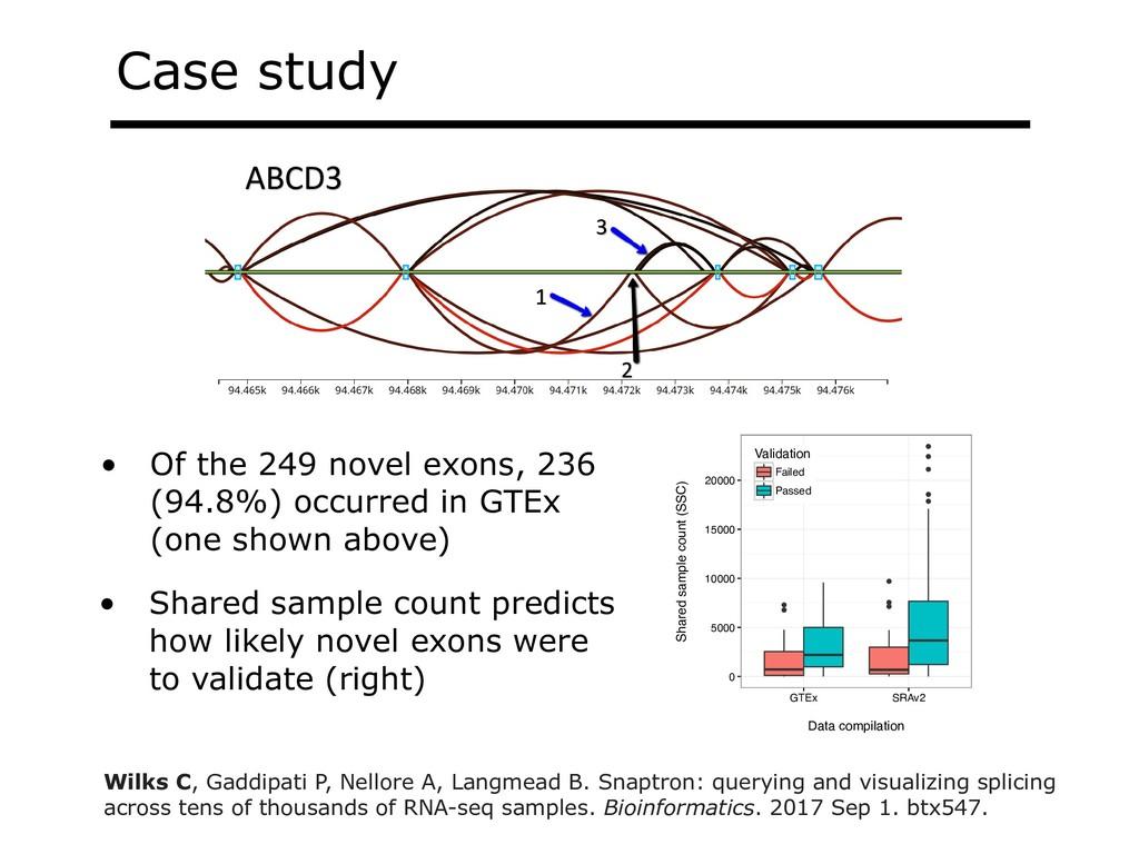 Case study A. ABCD3 B. KMT2E 3 1 2 1 2 3 C. ALK...
