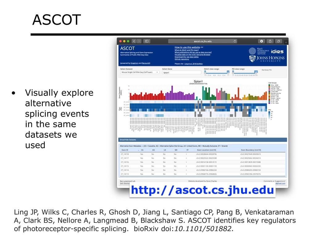 ASCOT • Visually explore alternative splicing e...
