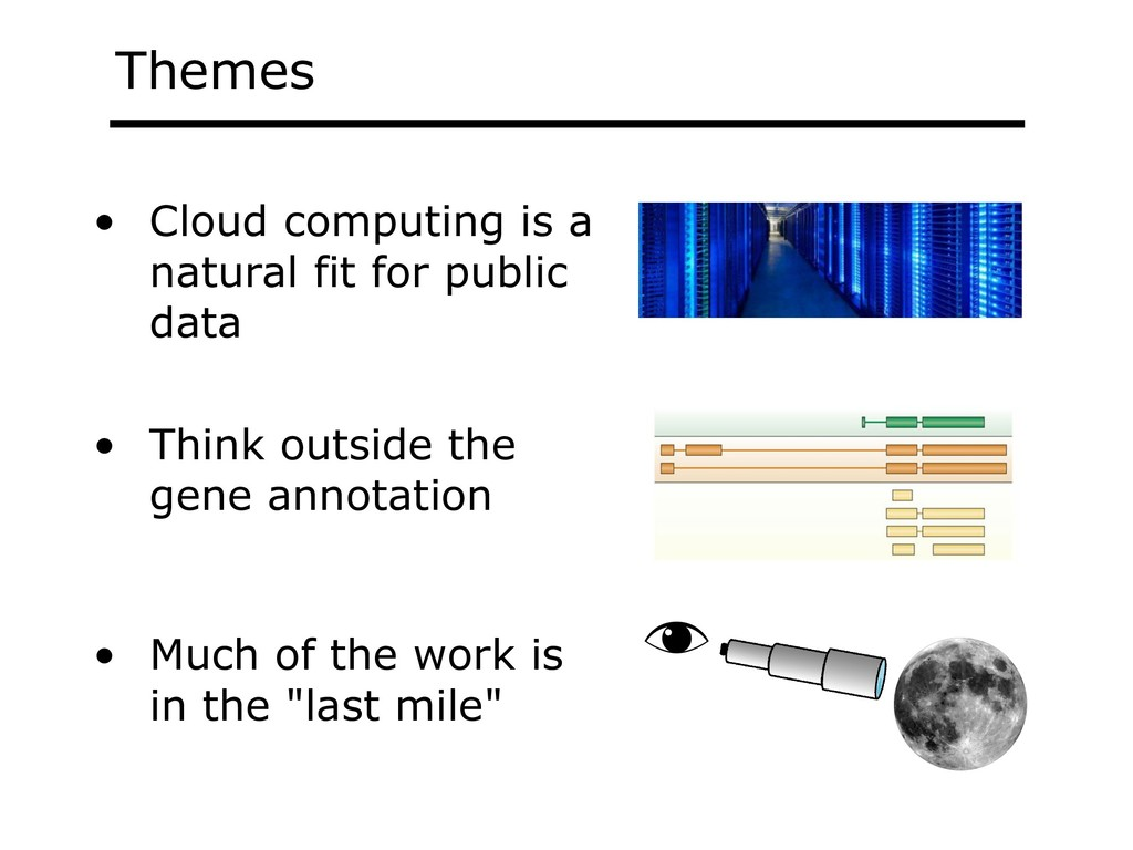 Themes • Cloud computing is a natural fit for p...