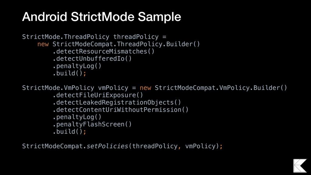 StrictMode.ThreadPolicy threadPolicy = new Stri...