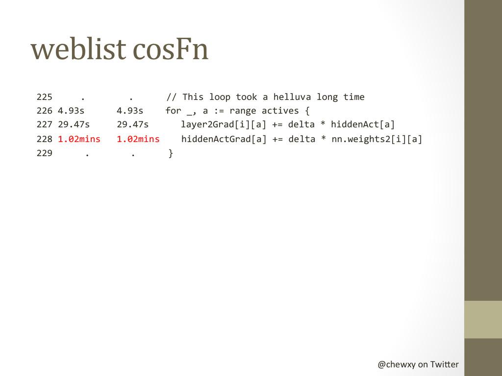@chewxy on Twi-er  weblist cosFn ...