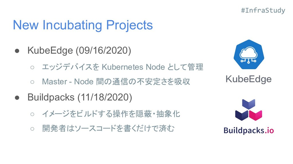 New Incubating Projects ● KubeEdge (09/16/2020)...