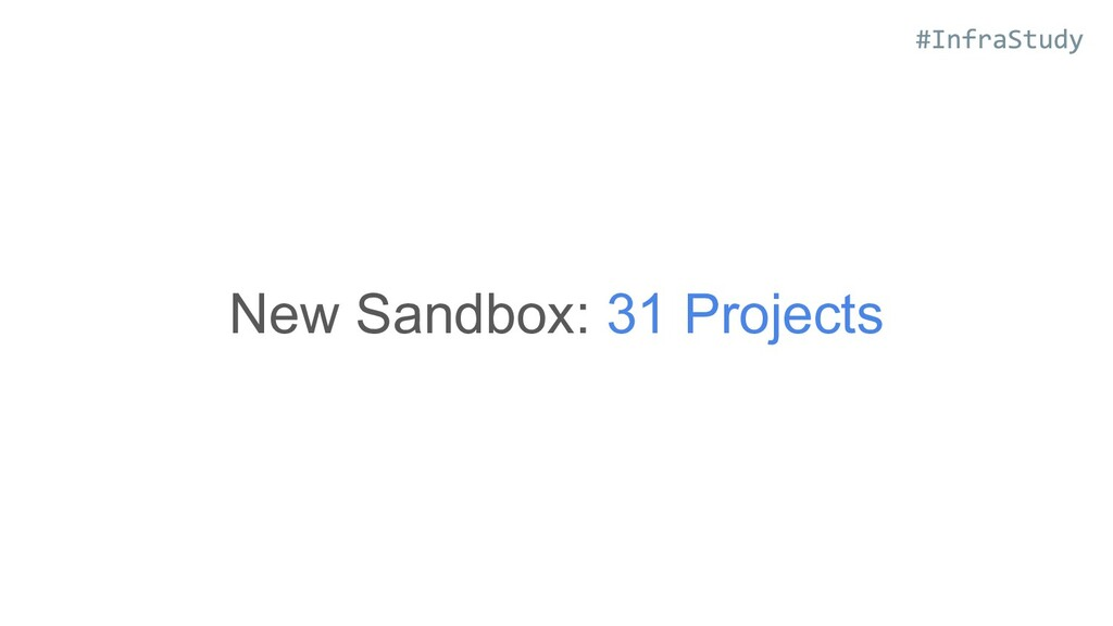 New Sandbox: 31 Projects