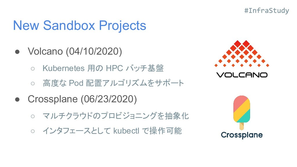 New Sandbox Projects ● Volcano (04/10/2020) ○ K...