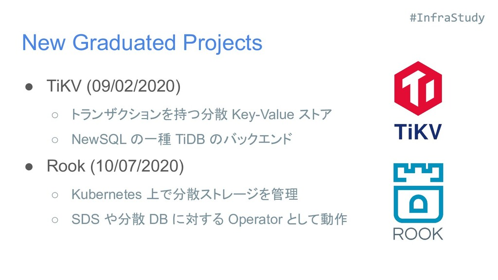 New Graduated Projects ● TiKV (09/02/2020) ○ トラ...