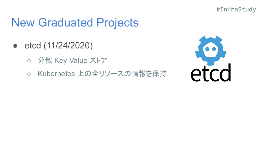 New Graduated Projects ● etcd (11/24/2020) ○ 分散...