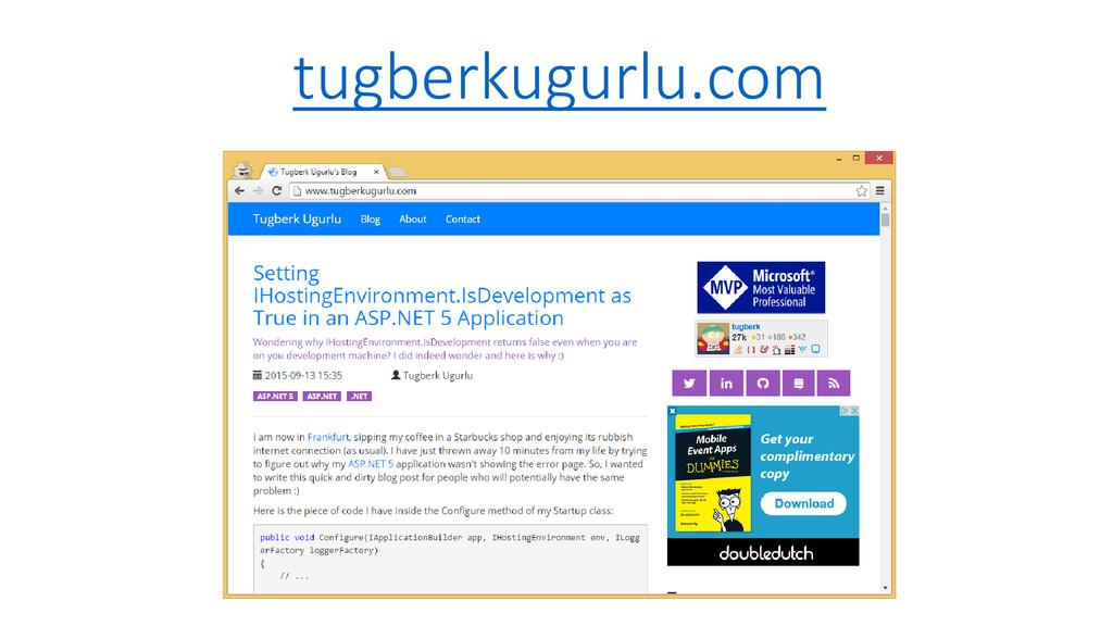 tugberkugurlu.com