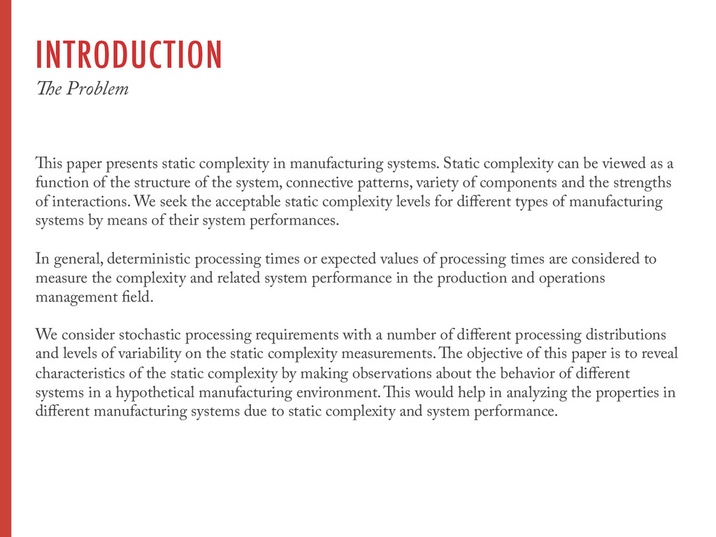 INTRODUCTION The Problem This paper presents st...