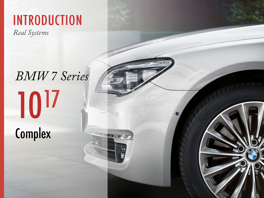 INTRODUCTION Real Systems BMW 7 Series 1017 Com...