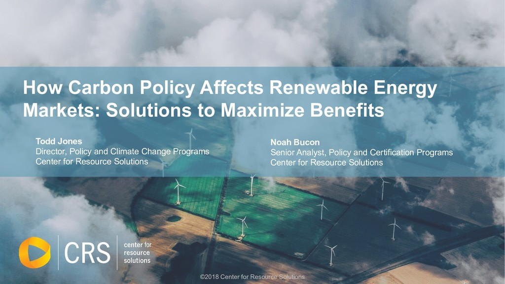 How Carbon Policy Affects Renewable Energy Mark...
