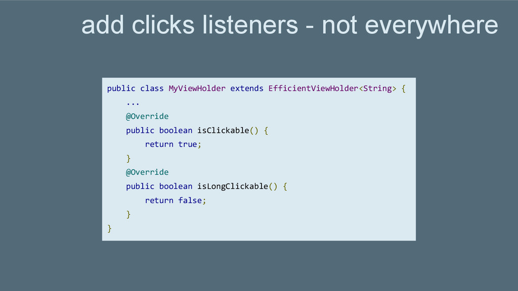 add clicks listeners - not everywhere public cl...