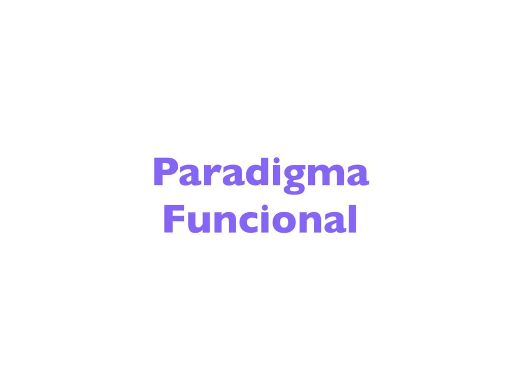 Paradigma Funcional