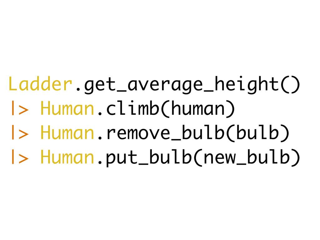 Ladder.get_average_height() |> Human.climb(huma...