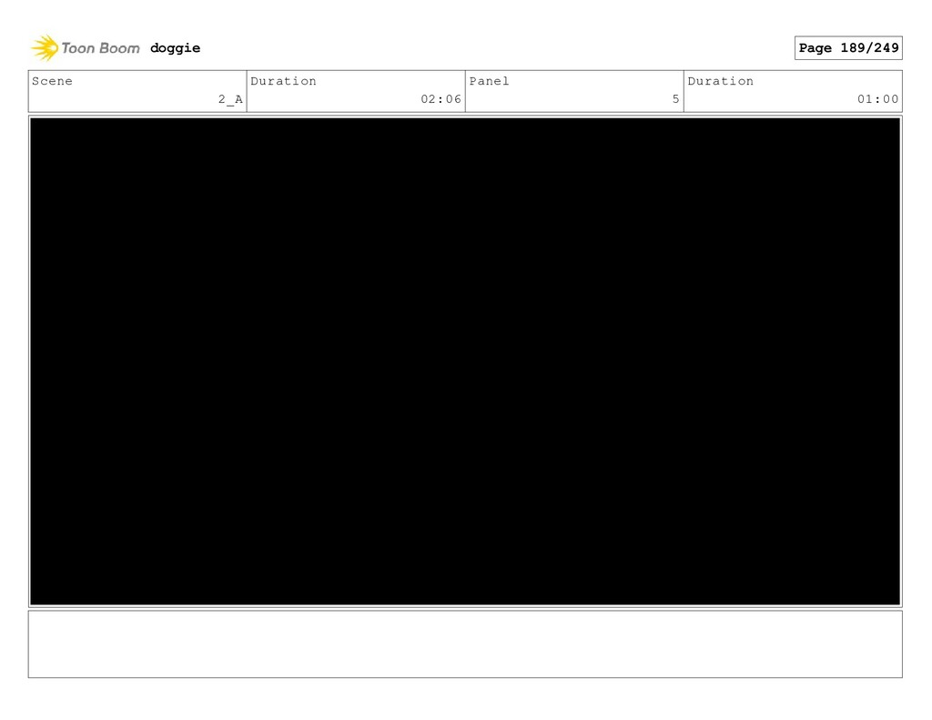 Scene 2_A Duration 02:06 Panel 5 Duration 01:00...