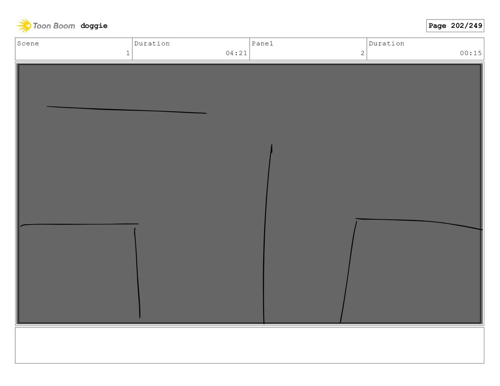 Scene 1 Duration 04:21 Panel 2 Duration 00:15 d...