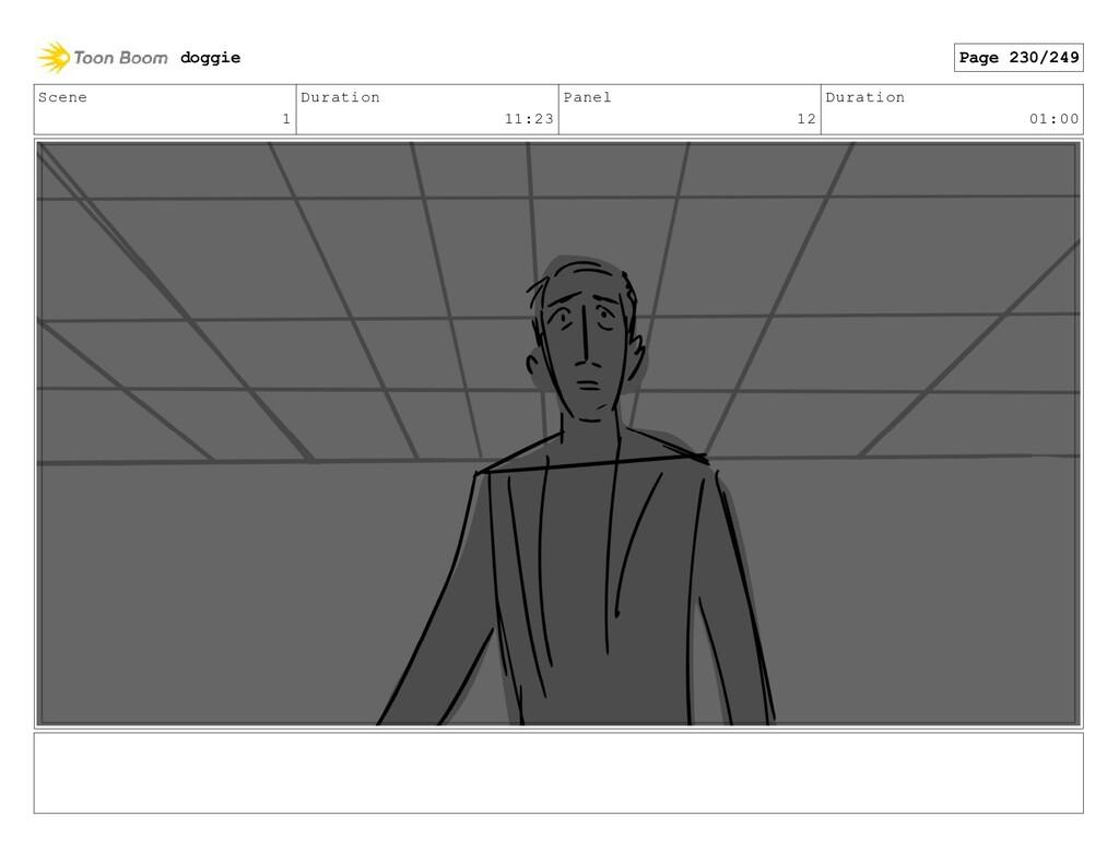 Scene 1 Duration 11:23 Panel 12 Duration 01:00 ...