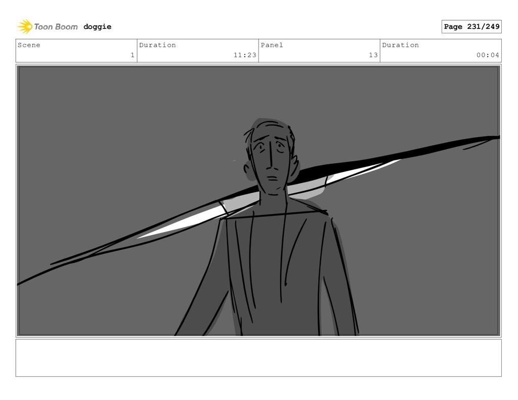 Scene 1 Duration 11:23 Panel 13 Duration 00:04 ...