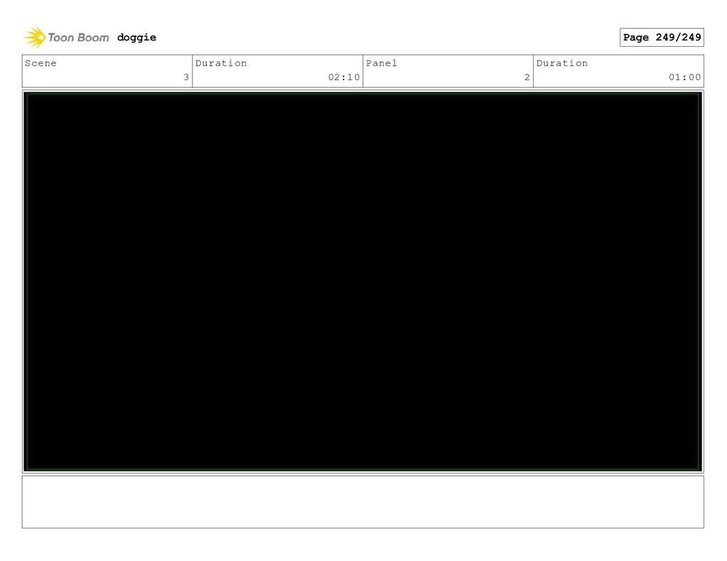 Scene 3 Duration 02:10 Panel 2 Duration 01:00 d...